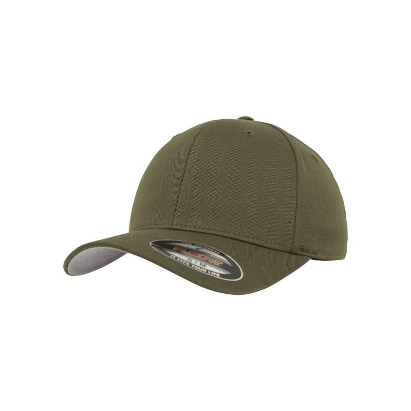 Flexfitkeps, olivgrön 6277 med böjd skärm
