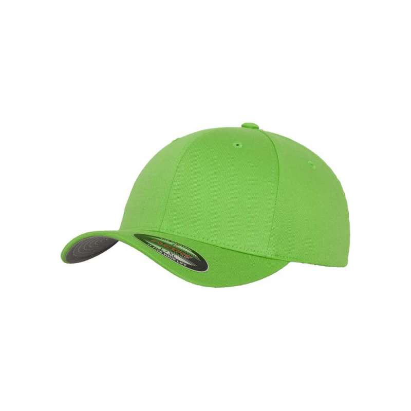 Flexfitkeps, limegrön 6277 med böjd skärm