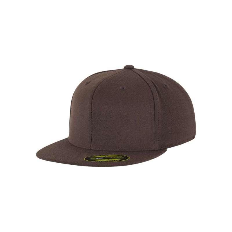 Flexfitkeps, brun 210 Fitted med platt skärm